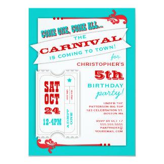 Admita um convite de aniversário do carnaval