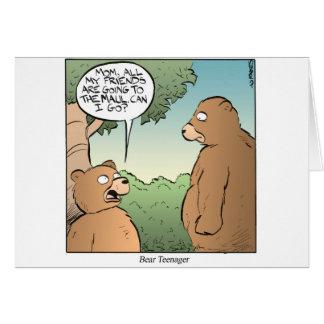 Adolescente do urso cartão comemorativo