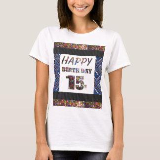 adolescentes happybirthday do feliz aniversario 15 t-shirt