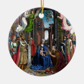 Adoração dos reis daqui até janeiro Mabuse Ornamento De Cerâmica Redondo