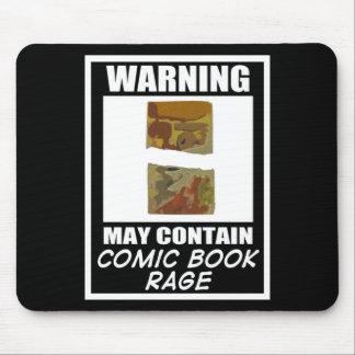 Advertir pode conter a raiva da banda desenhada mouse pad