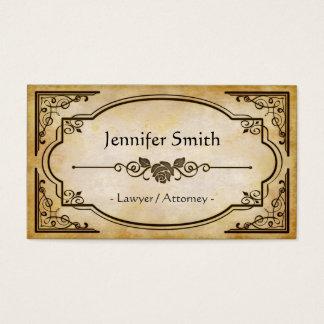 Advogado/advogado - antiguidade elegante do cartão de visita