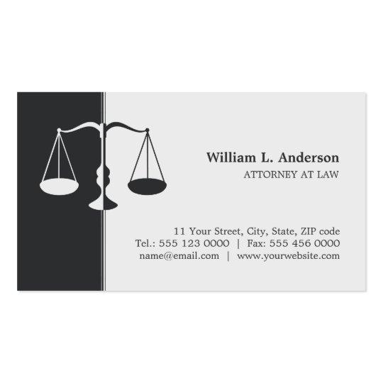 Advogado/advogado - cartão de visita do cinza de