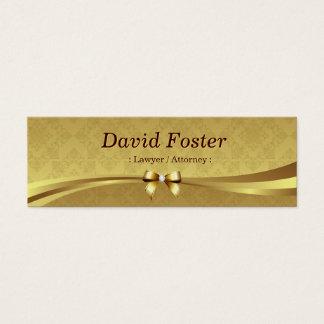 Advogado/advogado - damasco brilhante do ouro cartão de visitas mini
