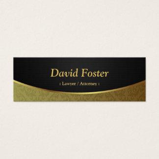 Advogado/advogado - damasco preto do ouro cartão de visitas mini