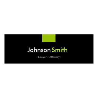 Advogado/advogado - estojo compacto verde da cartão de visita skinny
