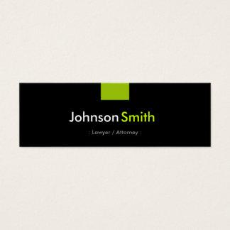 Advogado/advogado - estojo compacto verde da cartão de visitas mini