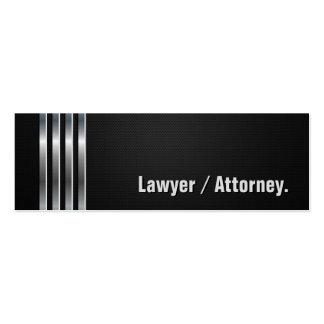 Advogado/advogado - listras de prata pretas cartão de visita skinny