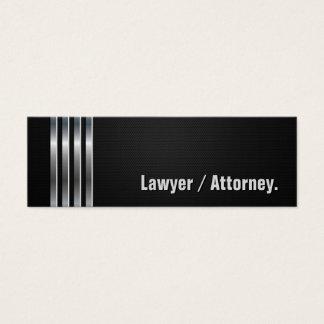 Advogado/advogado - listras de prata pretas cartão de visitas mini