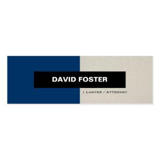 Advogado/advogado - na moda elegante simples cartão de visita skinny