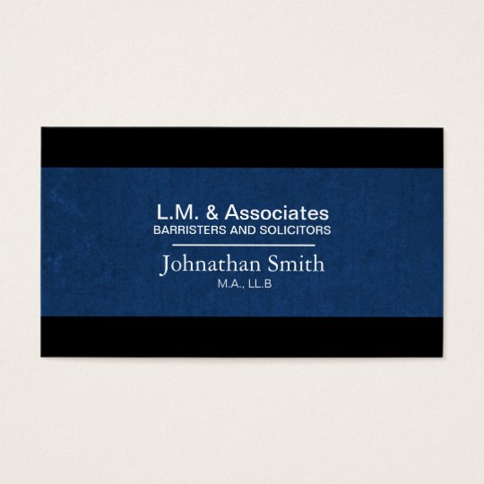 Advogado azul & preto do cartão de visita da lei -