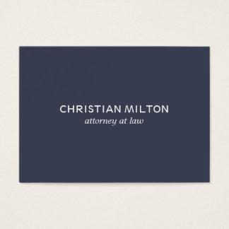 Advogado branco azul elegante simples mínimo na cartão de visita grande