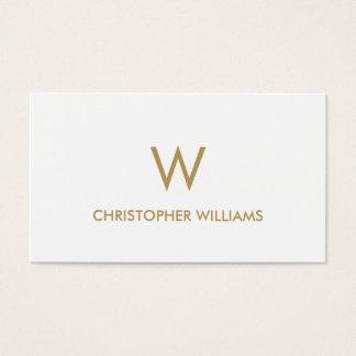 Advogado branco elegante moderno do monograma do cartão de visitas