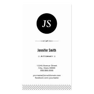 Advogado - branco preto limpo cartão de visita