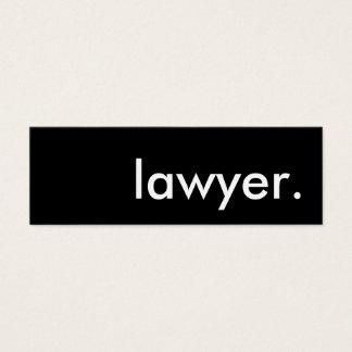 advogado cartão de visitas mini