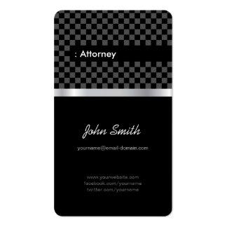 Advogado - Checkered preto elegante Cartão De Visita
