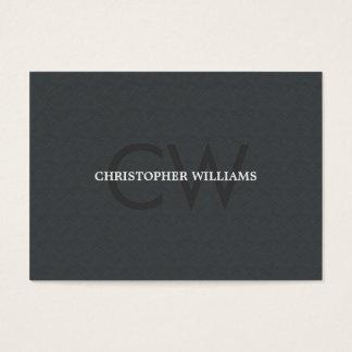 Advogado cinzento do monograma da textura elegante cartão de visita grande