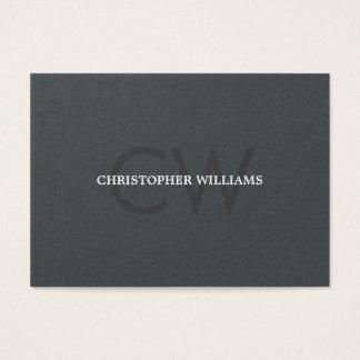 Advogado cinzento do monograma da textura elegante cartão de visitas
