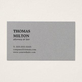 Advogado cinzento superior elegante minimalista na cartão de visitas
