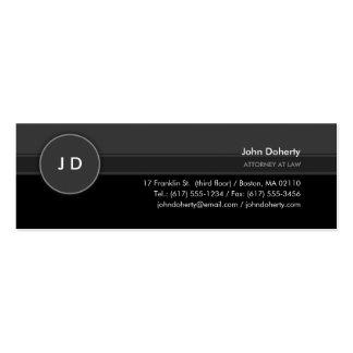 Advogado clássico do monograma | na lei cartão de visita skinny
