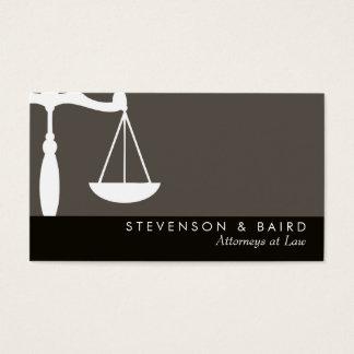 Advogado da escala de justiça no cartão de visita