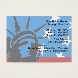 Advogado da imigração cartão de visita grande