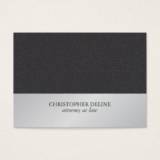 Advogado de prata do falso cinzento elegante cartão de visita grande