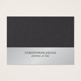 Advogado de prata do falso cinzento elegante cartão de visitas