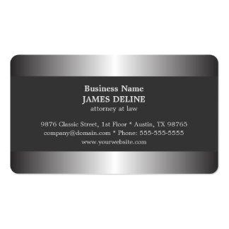 Advogado de prata elegante profissional do metal cartão de visita