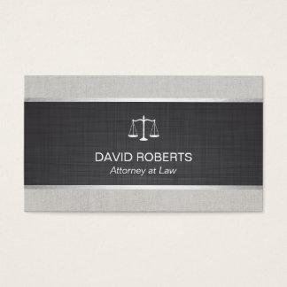 Advogado do advogado no linho preto da lei & cartão de visitas