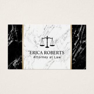 Advogado do advogado no profissional de mármore cartão de visitas