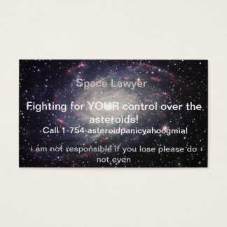 advogado do espaço cartão de visitas
