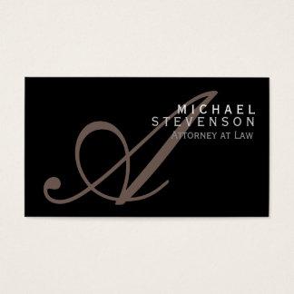 Advogado do monograma do roteiro no cartão de