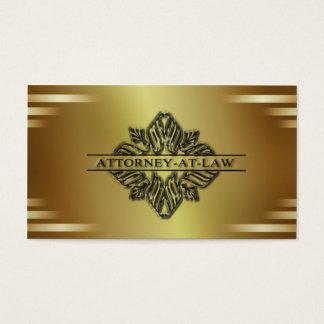 Advogado do ouro no cartão de visita da lei