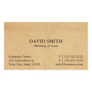 Advogado do vintage no advogado da lei cartão de visita