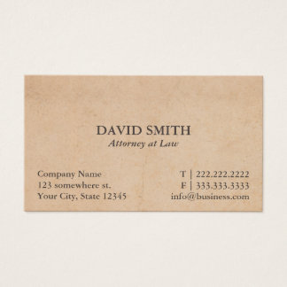 Advogado do vintage no advogado da lei cartão de visitas