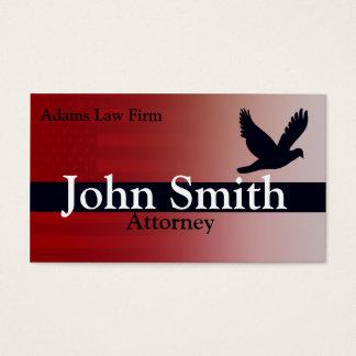 Advogado e advogado cartão de visitas