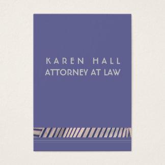 Advogado elegante cartão de visitas