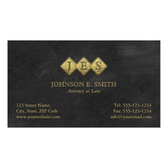 Advogado elegante do advogado do monograma cartão de visita