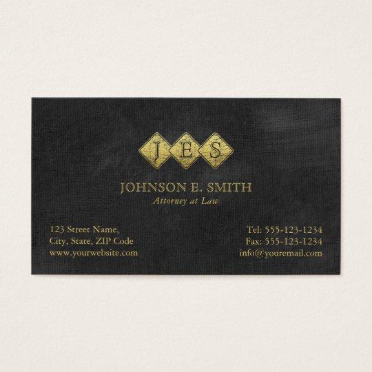 Advogado elegante do advogado do monograma cartão de visitas
