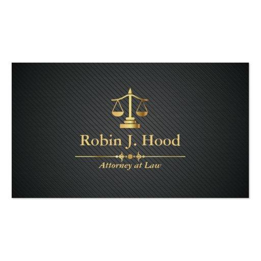 Advogado elegante do profissional do Libra do ouro Cartão De Visita