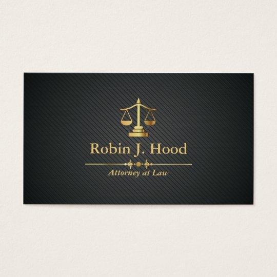 Advogado elegante do profissional do Libra do ouro Cartão De Visitas