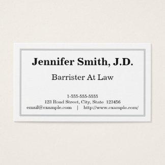 Advogado elegante e limpo no cartão de visita da