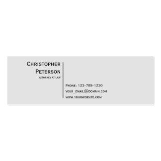 Advogado elegante minimalista no escritório de cartão de visita skinny
