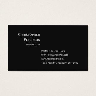 Advogado elegante minimalista no escritório de cartão de visitas