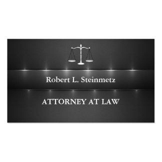 Advogado elegante na lei cartão de visita