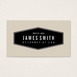 Advogado elegante retro alaranjado cinzento claro cartão de visitas