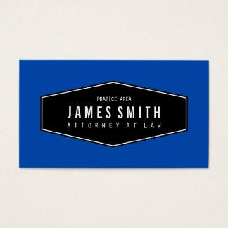Advogado elegante retro do cobalto cartão de visita