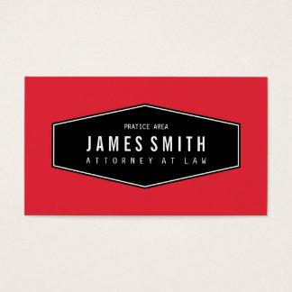 Advogado elegante retro vermelho brilhante cartão de visitas