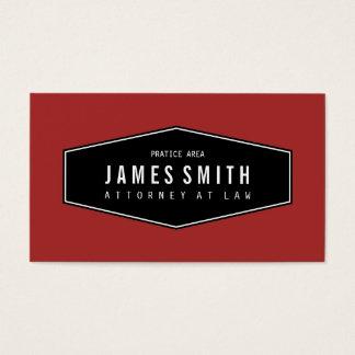 Advogado elegante retro vermelho marrom cartão de visita
